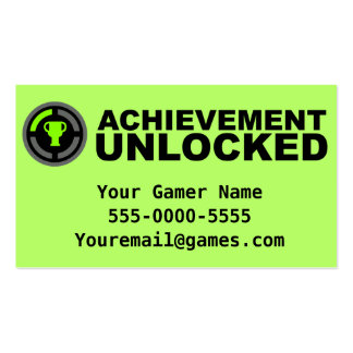 Achievement Unlocked Video Game Business Cards
