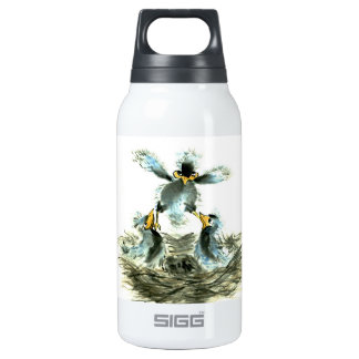 Achieving Lift, Sumi-e Birds Insulated Water Bottle