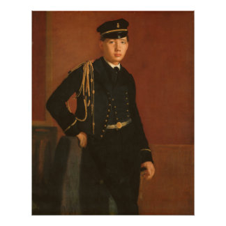 Achille De Gas in the Uniform of a Cadet Painting Poster