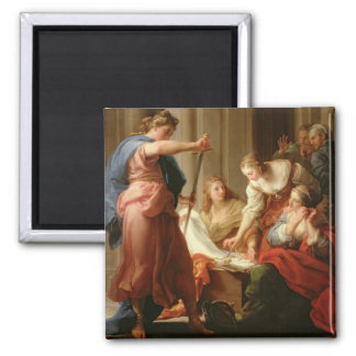 Achilles at the Court of King Lycomedes with his D 2 Inch Square Magnet