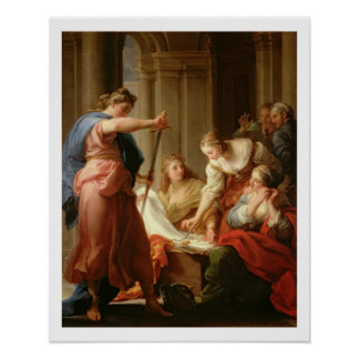 Achilles at the Court of King Lycomedes with his D Poster