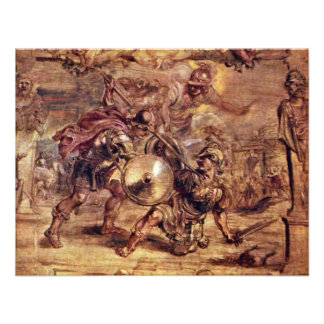 Achilles Defeated Hector.,  By Peter Paul Rubens Invitations