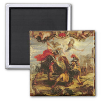 Achilles Defeating Hector, 1630-32 2 Inch Square Magnet