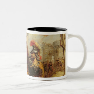 Achilles Defeating Hector, 1630-32 Two-Tone Coffee Mug