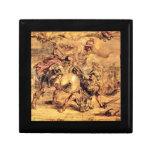 Achilles defeats Hector by Paul Rubens Keepsake Box