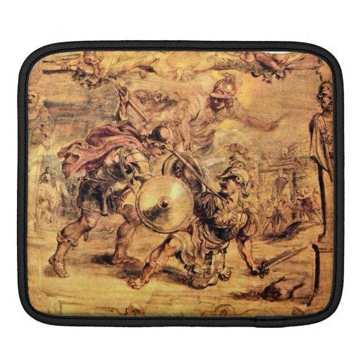 Achilles defeats Hector by Paul Rubens iPad Sleeve