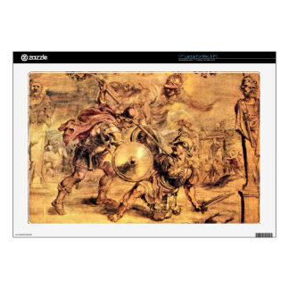 Achilles defeats Hector by Paul Rubens Laptop Decal