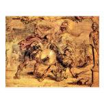 Achilles defeats Hector by Paul Rubens Postcard