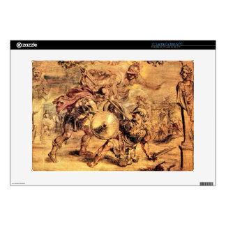 Achilles defeats Hector by Paul Rubens Decals For Laptops