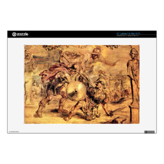 """Achilles defeats Hector by Paul Rubens 13"""" Laptop Decal"""