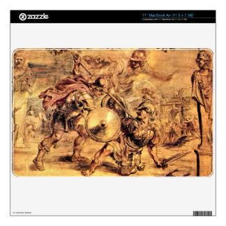 Achilles defeats Hector by Paul Rubens MacBook Air Decals