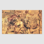 Achilles defeats Hector by Paul Rubens Rectangular Stickers