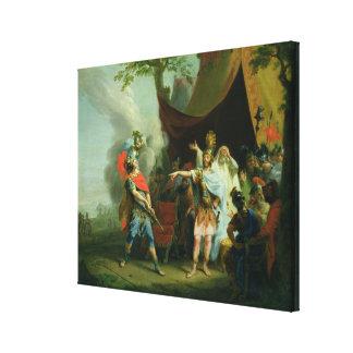 Achilles has a dispute with Agamemnon, 1776 Canvas Print