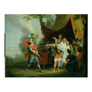 Achilles has a dispute with Agamemnon, 1776 Postcard