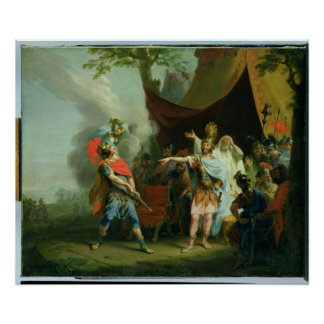 Achilles has a dispute with Agamemnon, 1776 Print