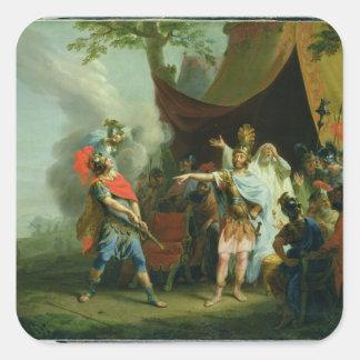 Achilles has a dispute with Agamemnon, 1776 Square Sticker