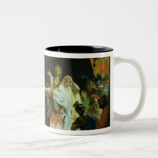 Achilles has a dispute with Agamemnon, 1776 Two-Tone Coffee Mug