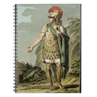 Achilles in Armour, costume for 'Iphigenia in Auli Notebook