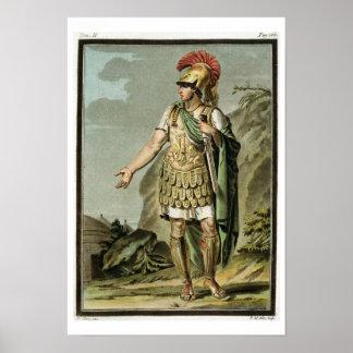 Achilles in Armour, costume for 'Iphigenia in Auli Print