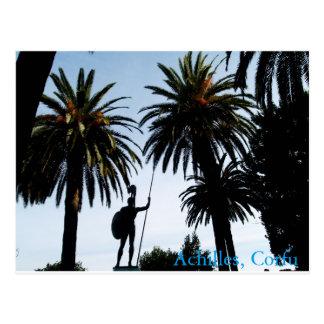 Achilles in Corfu Postcard