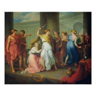 Achilles recognised, 1799 poster