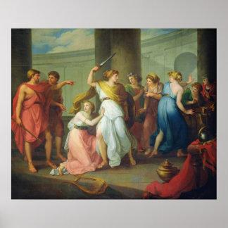 Achilles recognised, 1799 print