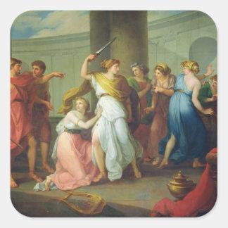 Achilles recognised, 1799 square sticker
