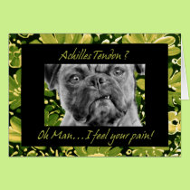 Achilles Tendon Surgery Get Well Funny Pug Dog Card