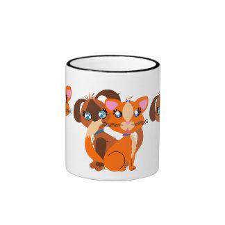 Achoo!! Ginger Toon Kitty & Toffee Toon Pup Mug