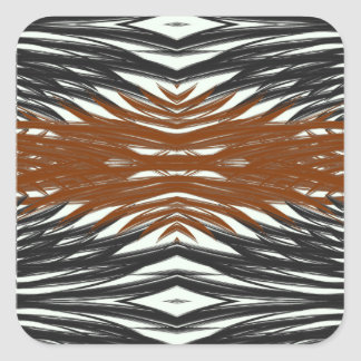 Achromatic Jungle Square Sticker
