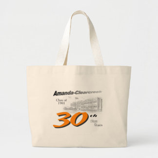 ACHS 30th class reunion logo Large Tote Bag