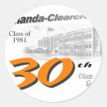 ACHS 30th class reunion logo Sticker