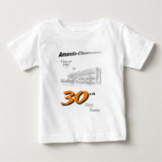 ACHS 30th reunion 8.5x11 tall logo Baby T-Shirt