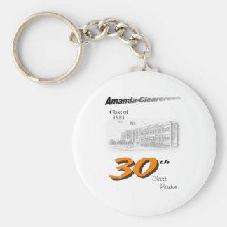 ACHS 30th reunion 8.5x11 tall logo Keychain