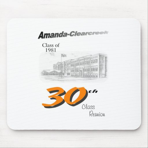 ACHS 30th reunion 8.5x11 tall logo Mouse Pads