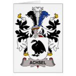 Achsel Family Crest Cards