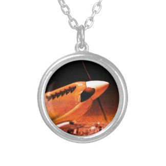 Achtung Spitfire! Round Pendant Necklace