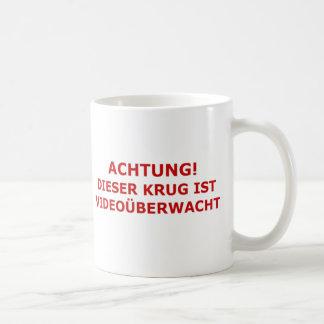Achtung Videouberwacht Krug Coffee Mug