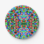 Acid Bright Abstract Pattern Paper Plates