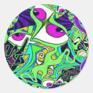 Acid Classic Round Sticker