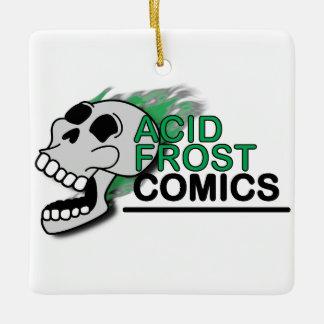 Acid Frost Comics Skull Square Ornament