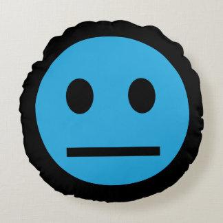 Acid Generation Smiley Blue Round Pillow