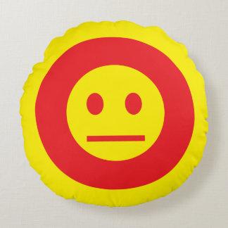 Acid Generation Smiley Round Pillow