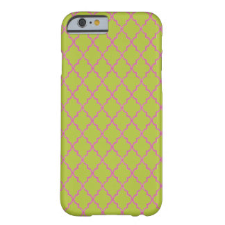 Acid Green And Hot Pink Moroccan Trellis Barely There iPhone 6 Case