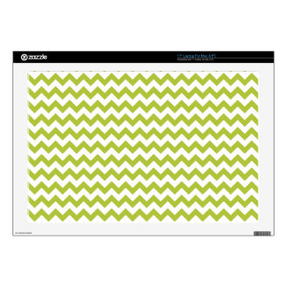 Acid-Green-And-White Chevron Decal For Laptop