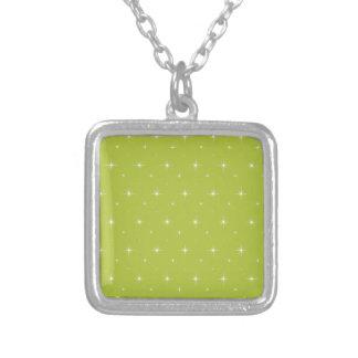 Acid-Green-Apple-And-Bright-Stars-Elegant-Pattern Pendants