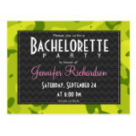 Acid Green Camo; Camouflage Bachelorette Party Post Card