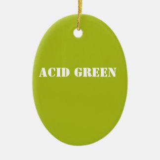 Acid green ceramic ornament