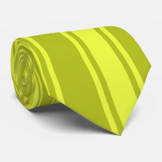 Acid green Color Stripe Funky Pattern Tie