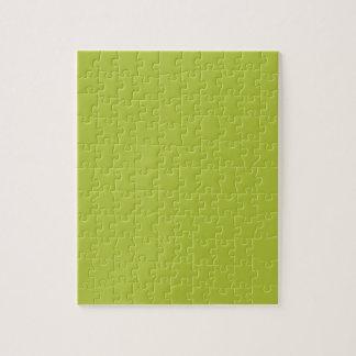 Acid Green Elegant Fashion Color Jigsaw Puzzle